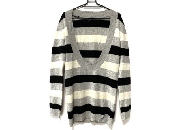 theory(セオリー) 長袖セーター サイズ2 S レディース 黒×白×ライトグレー