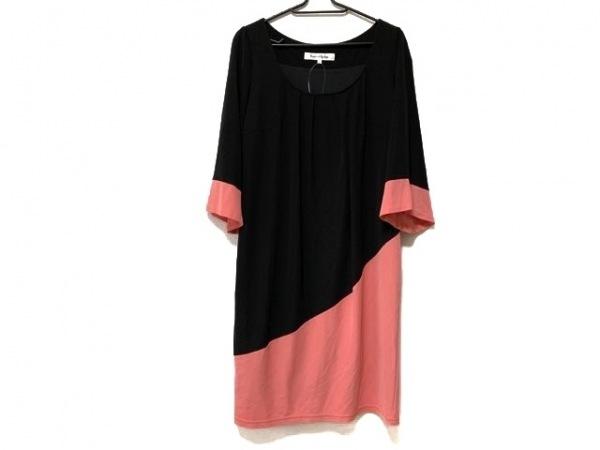 Pinky&Dianne(ピンキー&ダイアン) ワンピース サイズ38 M レディース美品  黒×ピンク
