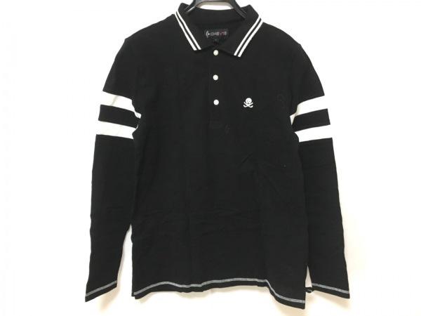 CALLAWAY(キャロウェイ) 長袖ポロシャツ サイズL メンズ美品  黒×白 CHEV18/スカル