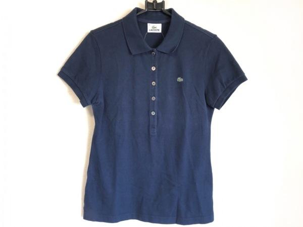 Lacoste(ラコステ) 半袖ポロシャツ サイズ42 L レディース ダークネイビー