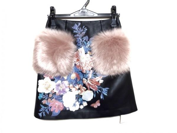 Disaya(ディサヤ) スカート サイズUK 4 レディース新品同様  黒×ピンク×マルチ