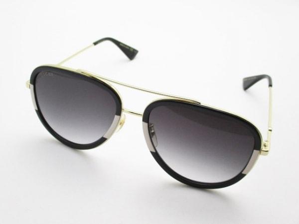 GUCCI(グッチ) サングラス GG0062S 黒×ゴールド 金属素材×プラスチック
