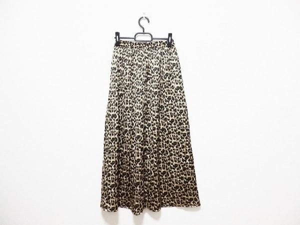 UNGRID(アングリッド) ロングスカート サイズF レディース 黒×ベージュ×ブラウン