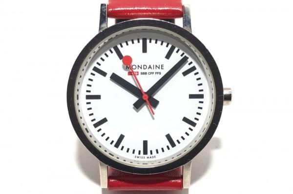 MONDAINE(モンディーン) 腕時計 - レディース 革ベルト 白