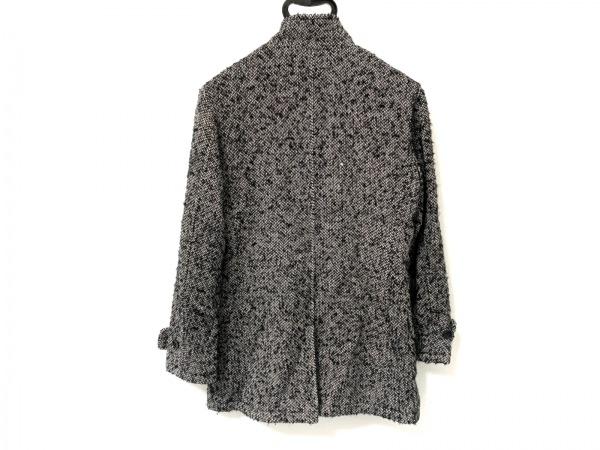 COMME CA MEN(コムサメン) コート サイズS メンズ 黒×白 冬物