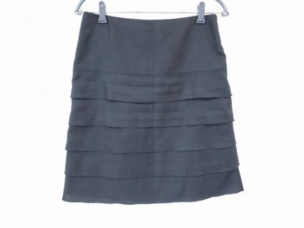 23区(ニジュウサンク) スカート サイズ40 M レディース美品  黒 フリル