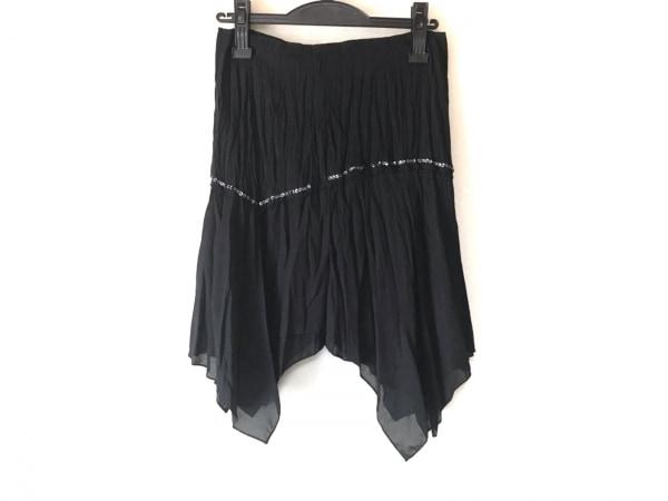 ピンキー&ダイアン スカート サイズ38 M レディース 黒 スパンコール/ビーズ