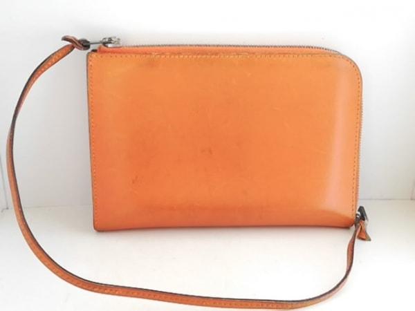 HERMES(エルメス) 財布 リミックス オレンジ L字ファスナー ボックスカーフ
