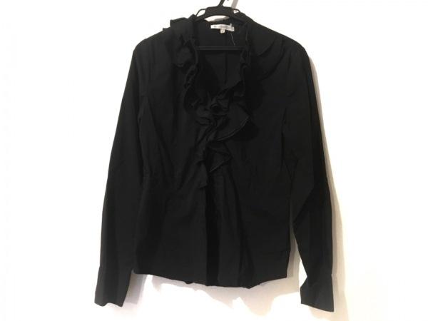 ナラカミーチェ 長袖シャツブラウス サイズ1 S レディース美品  黒 フリル