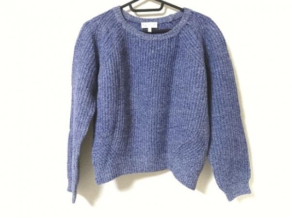 agnes b(アニエスベー) 長袖セーター サイズ1 S レディース美品  ネイビー×白