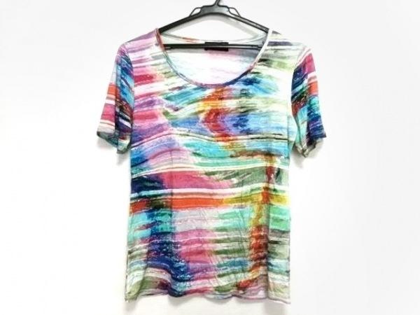kiwi(キウィ) 半袖Tシャツ レディース ライトブルー×ピンク×マルチ
