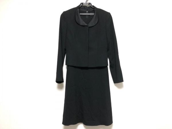 SOIR PERLE(ソワール ペルル) ワンピーススーツ サイズ7 S レディース美品  黒