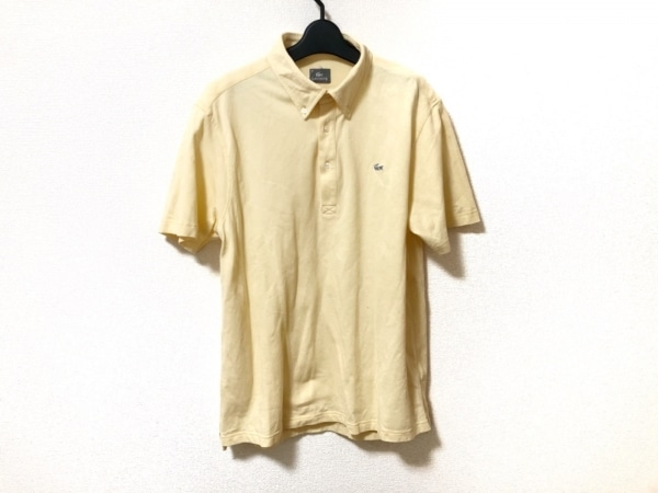 Lacoste(ラコステ) 半袖ポロシャツ サイズ8 メンズ美品  アイボリー