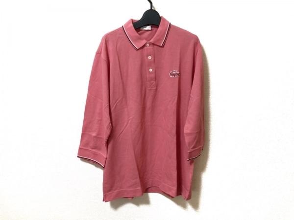 Lacoste(ラコステ) 七分袖ポロシャツ サイズ5 XL メンズ美品  ピンク