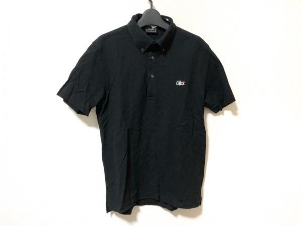 Lacoste(ラコステ) 半袖ポロシャツ サイズ5 XL メンズ 黒×白×マルチ