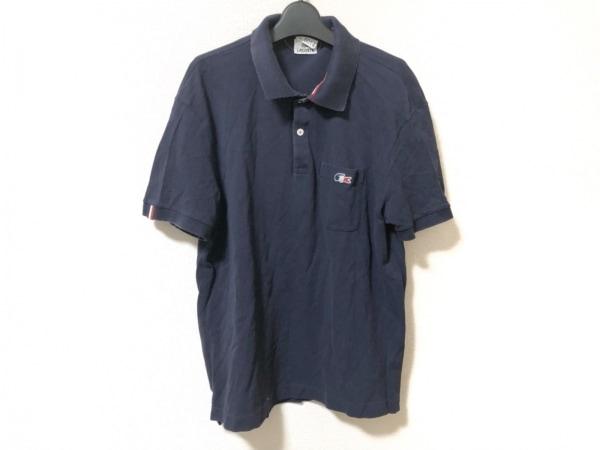 Lacoste(ラコステ) 半袖ポロシャツ サイズ5 XL メンズ ネイビー×レッド×白