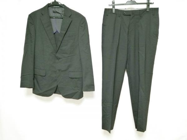 HILTON TIME(ヒルトンタイム) シングルスーツ メンズ 黒 肩パッド/ネーム刺繍