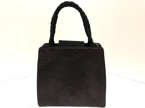 TOPKAPI(トプカピ) ハンドバッグ ボルドー×黒 かごバッグ ラタン×天然繊維