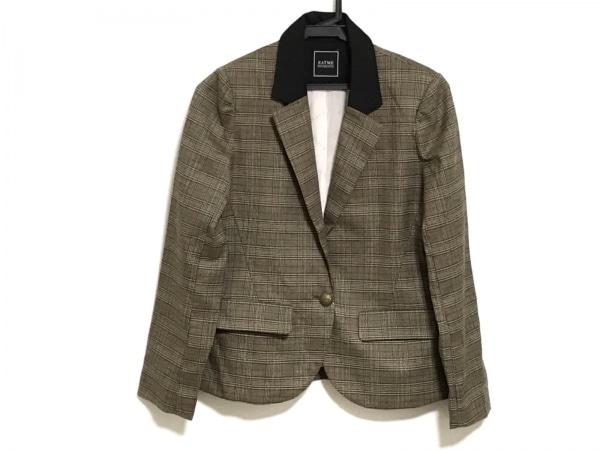 イートミー ジャケット サイズ03   S レディース ブラウン×黒×マルチ チェック柄
