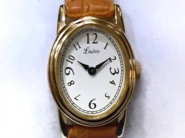 Laditte(ラディエット) 腕時計 レディース アイボリー