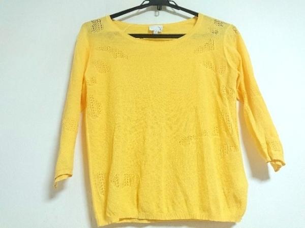 TSE(セイ) 七分袖セーター サイズS レディース新品同様  イエロー 薄手
