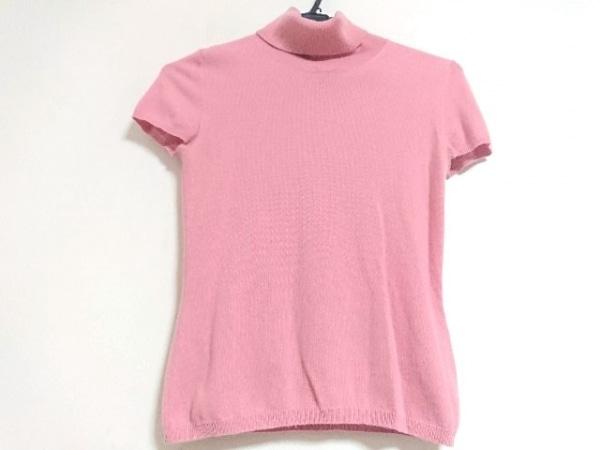 セイ 半袖セーター サイズXS レディース新品同様  ピンク タートルネック/カシミヤ