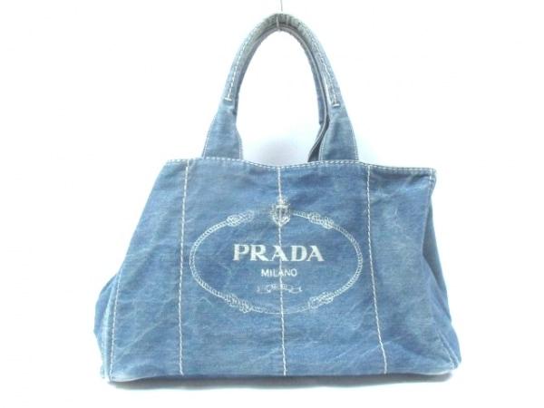 6e00a6328200 PRADA(プラダ) トートバッグ CANAPA ネイビー デニムの中古 | PRADA ...