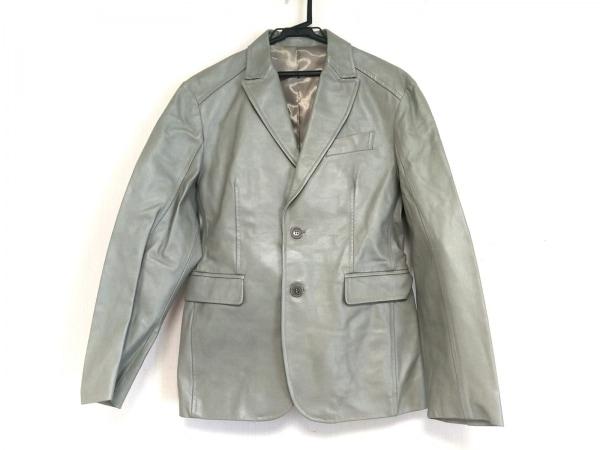 ロベルトマッシーニ ジャケット サイズL メンズ ライトグリーン レザー