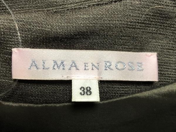 アルマアンローズ ワンピース サイズ38 M レディース ダークブラウン×黒