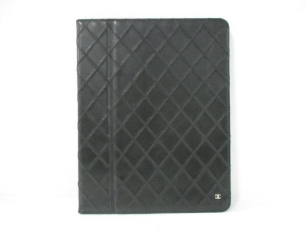 CHANEL(シャネル) 小物入れ美品  ビコローレ 黒 iPadケース ラムスキン