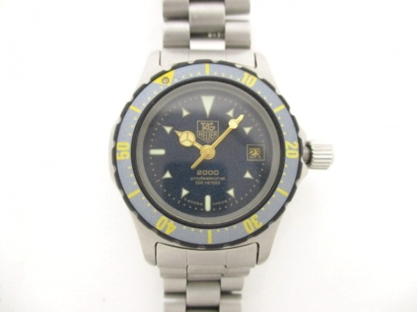 TAG Heuer(タグホイヤー) 腕時計美品  2000プロフェッショナル 972.608 レディース 黒