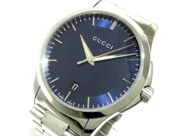 GUCCI(グッチ) 腕時計 126.4 メンズ ネイビー