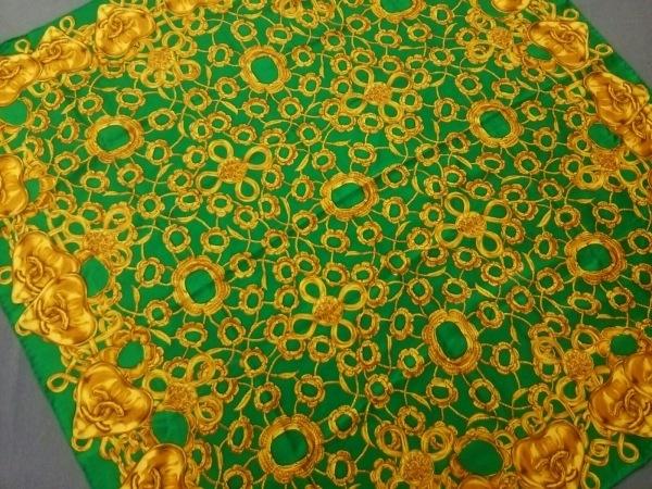 CHANEL(シャネル) スカーフ美品  グリーン×ゴールド