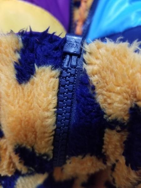 miki HOUSE(ミキハウス) ダウンベスト サイズ120 メンズ ブルー×パープル×マルチ