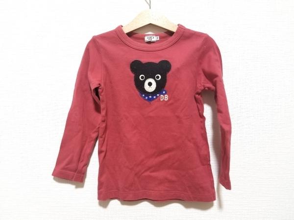 ミキハウス 長袖Tシャツ サイズ110 メンズ美品  レッド DOUBLE.B/ネームあり
