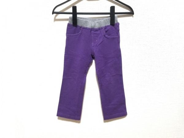 miki HOUSE(ミキハウス) パンツ サイズ100 メンズ パープル×ライトグレー