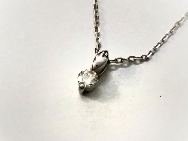 RUGIADA(ルジアダ) ネックレス美品  K10WG×ダイヤモンド