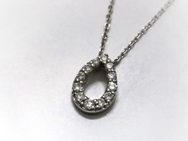 RUGIADA(ルジアダ) ネックレス美品  K10WG×ダイヤモンド ドロップ