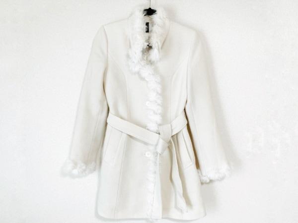 joias(ジョイアス) コート レディース 白 ファー/ラメ/冬物