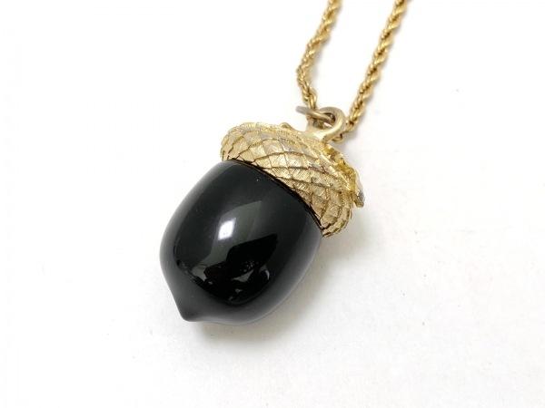KENNETH JAY LANE(ケネスジェイレーン) ネックレス 金属素材 ゴールド×黒 どんぐり