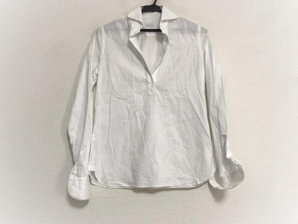 ORIAN(オリアン) 長袖カットソー サイズ38 M レディース美品  白 ストライプ