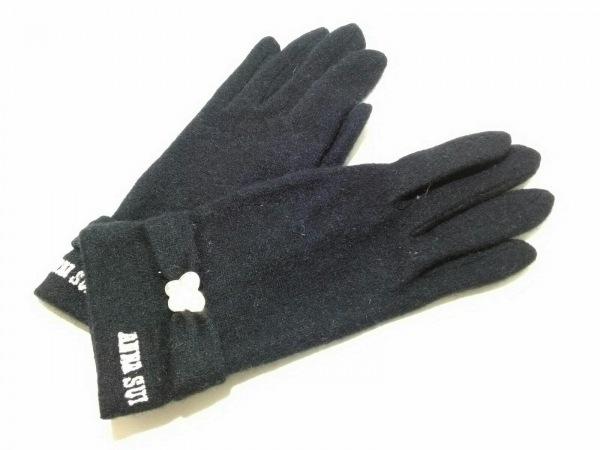 ANNA SUI(アナスイ) 手袋 レディース美品  黒 ラインストーン ウール