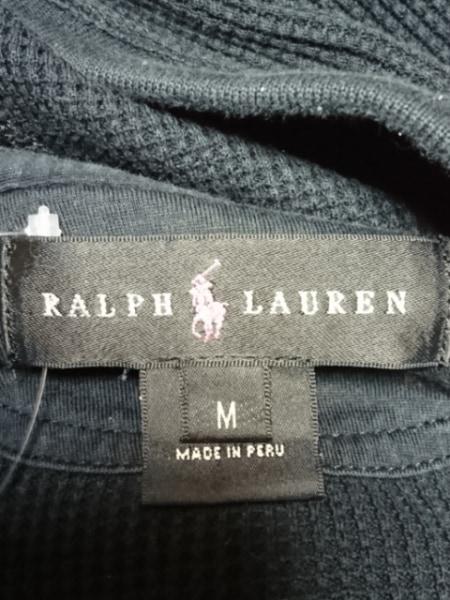 RalphLauren(ラルフローレン) パーカー サイズM レディース ビッグポニー 黒×ピンク