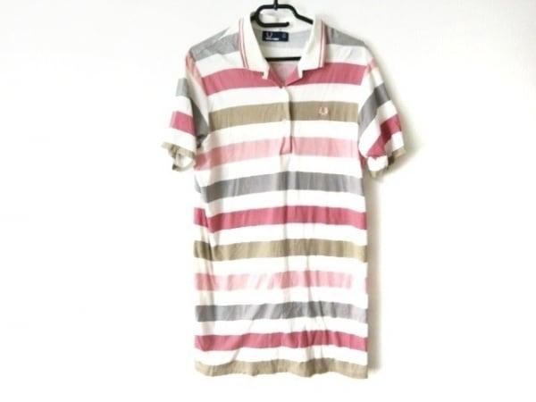 FRED PERRY(フレッドペリー) 半袖ポロシャツ メンズ 白×マルチ ボーダー