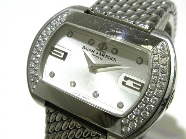 ボーム&メルシエ 腕時計 ハンプトン シティ 65412 レディース シルバー×ダイヤモンド