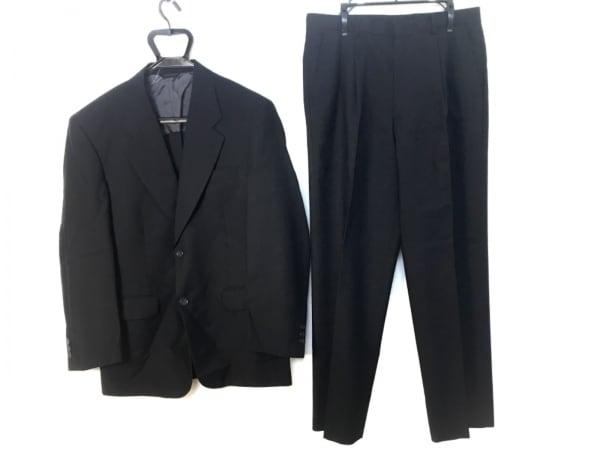 DURBAN(ダーバン) シングルスーツ メンズ 黒 ネーム刺繍/薄手
