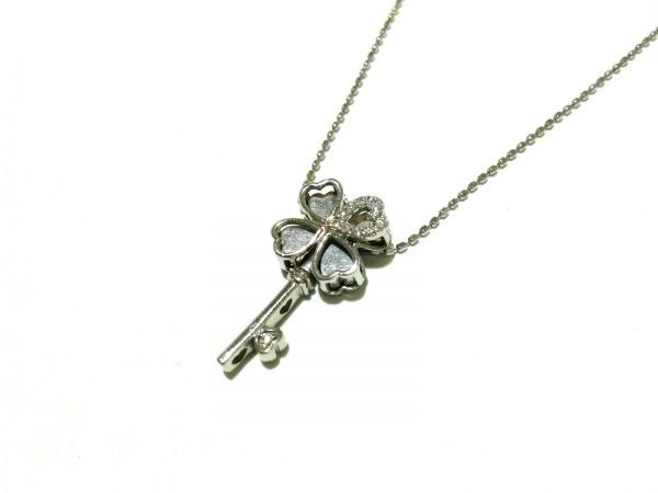 ノーブランド ネックレス美品  2928 3.1 K18WG×ダイヤモンド 総重量3.1g