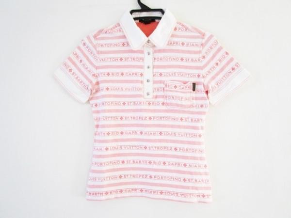 ルイヴィトン 半袖ポロシャツ サイズ36 S レディース アイボリー×ピンク