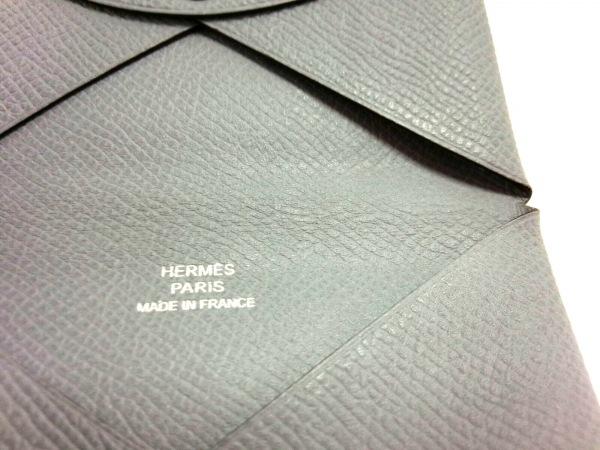 HERMES(エルメス) カードケース カルヴィ ブルーグラシエ ヴォーエプソン