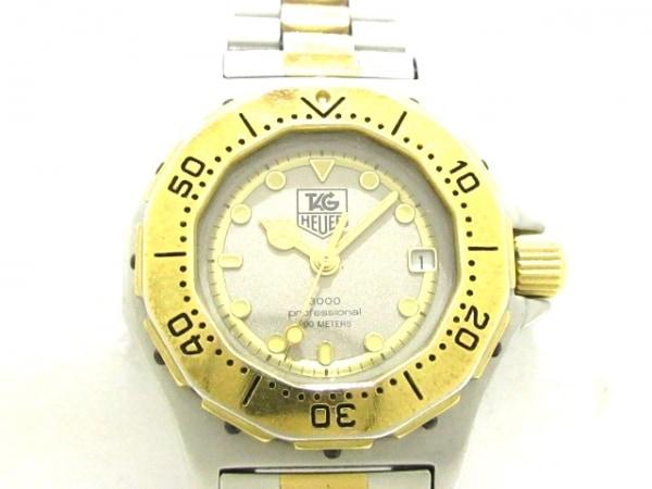 タグホイヤー 腕時計 プロフェッショナル200 934.208 レディース グレー×ゴールド